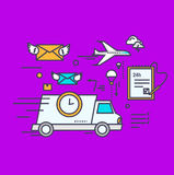 Fast Delivery Concept Icon Flat Design Stock Image