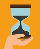 Fast delivery concept sand clock time icon graphic. Illustration Stock Photos