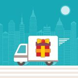Fast delivery concept Royalty Free Stock Image