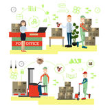Fast delivery concept vector illustration in flat style Stock Photos