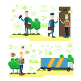 Fast delivery concept vector illustration in flat style Stock Images