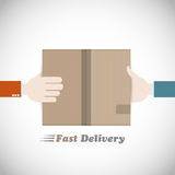 Fast delivery courier. Abstract design Stock Photo