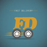 Fast delivery design Royalty Free Stock Image