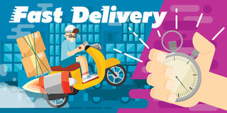 Fast delivery design, vector illustration Royalty Free Stock Photos