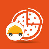 Fast delivery food pizza Royalty Free Stock Photography