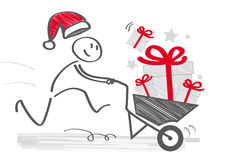 Fast delivery of gifts - illustration Stock Images