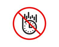Fast delivery icon. Time sign. Vector. No or Stop. Fast delivery icon. Time sign. Prohibited ban stop symbol. No fast delivery icon. Vector royalty free illustration