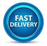 Fast Delivery Eyeball Blue Round Button stock illustration