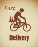 Fast delivery Stock Image