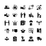 Fast delivery logistic icons big set in flat style. stock illustration