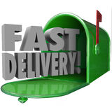 Fast Delivery Mailbox Special Quick Expedited Mail Service Stock Photos