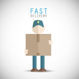 Fast delivery man. Abstract design Royalty Free Stock Image