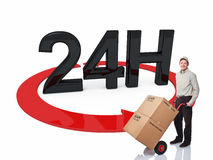 Fast delivery Royalty Free Stock Images