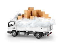 Fast delivery service, cartons Royalty Free Stock Photography
