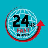 Fast delivery service icons. Illustration design Stock Images