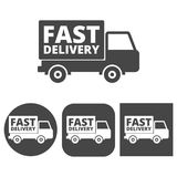Fast Delivery service -  icons set. Icon Stock Images