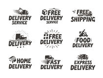 Fast delivery, set icons. Free shipping symbol. Vector illustration Stock Photos