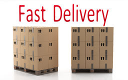 Fast Delivery. Fast Shipping. Trade efficiency. Electronic commerce in the world today Royalty Free Stock Image