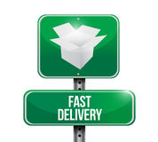Fast delivery sign illustration design Royalty Free Stock Photos