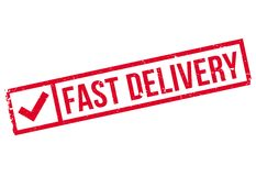 Fast delivery stamp Royalty Free Stock Photo