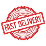 Fast delivery stamp Stock Image