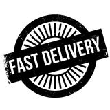Fast delivery stamp Stock Images
