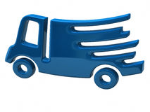 Fast delivery truck Royalty Free Stock Images