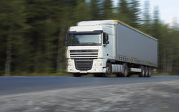 Fast delivery truck Stock Image