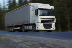 Fast delivery truck Royalty Free Stock Photo