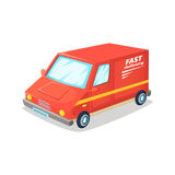 Fast delivery van. Fast delivery truck.Cartoon vector illustration.  Stock Images