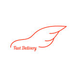 Fast delivery with wing like car Stock Photos