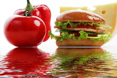 Fast dinner Royalty Free Stock Images