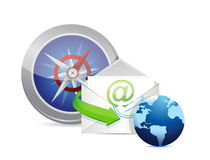 Fast direct mail service concept illustration Royalty Free Stock Image