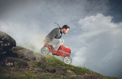 Fast downhill Stock Photography