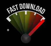 Fast download speedometer. Illustration design over a white background Royalty Free Stock Photos