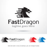 Fast Dragon Logo Template Design Vector, Emblem, Design Concept, Creative Symbol, Icon. This design suitable for logo, symbol, emblem or icon Royalty Free Stock Photography