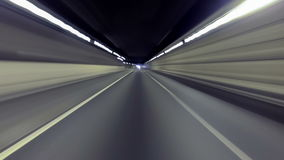 Fast driving for Barcelona.Time Lapse, rear view stock footage