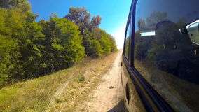 Fast driving a car in the countryside. stock footage