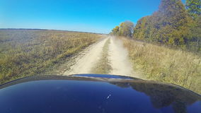 Fast driving a car in the countryside. stock video footage