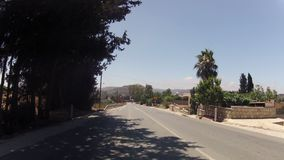 Fast driving on Cyprus roads stock video footage