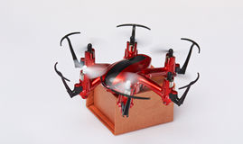 Fast drone shipping Royalty Free Stock Image