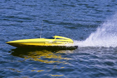 Fast electric model boat Stock Photography