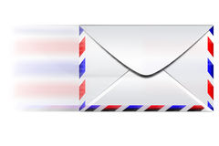 Fast email envelope. Speed envelope on a white background Stock Photos