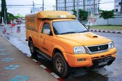 Fast emergency service mini truck of  ChiangMai Municipality. Photo at Chiangmai bus station, thailand. Royalty Free Stock Photo