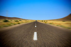 Fast empy road Stock Photography