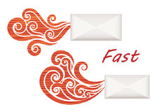 Fast Envelopes Stock Image