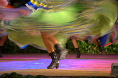 Fast female dancer Stock Image
