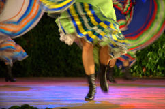 Fast female dancers blurred motion Stock Images