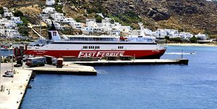 Fast Ferries Andros royalty free stock image