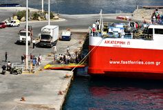 Fast Ferries Andros stock photo